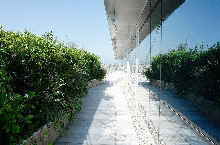 Terrazze e giardini pensili e nato un giardino sul tetto della banca paghera