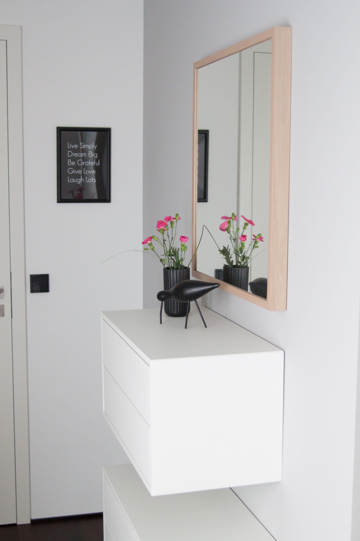 So sieht\'s aus,...   Hall, Ikea eket and Master bedroom