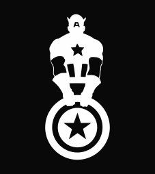 """Captain America with Shield Marvel Avengers Vinyl Die Cut Decal Sticker 6.00"""" White Custom Stickers http://www.amazon.com/dp/B009L8XOB4/ref=cm_sw_r_pi_dp_nieTtb0S8M1H8NP8"""