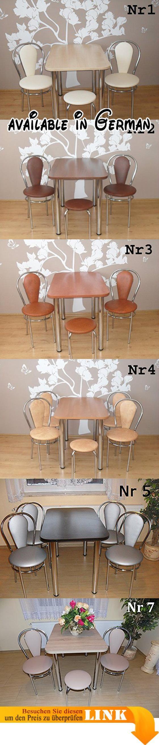 B0156JNK56 : Design Esstisch Küchentisch Bistrotisch mit Chromfuß ...