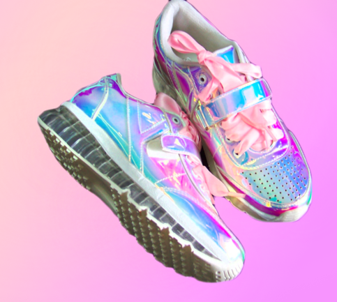 58dbd09f646 Harajuku Hologram sneakers in 2019   shiny   Sneakers, Fashion, Shoes