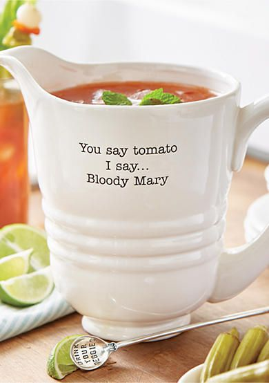 Mud Pie® 2-Piece Circa Bloody Mary Pitcher and Spoon Set Farmhouse
