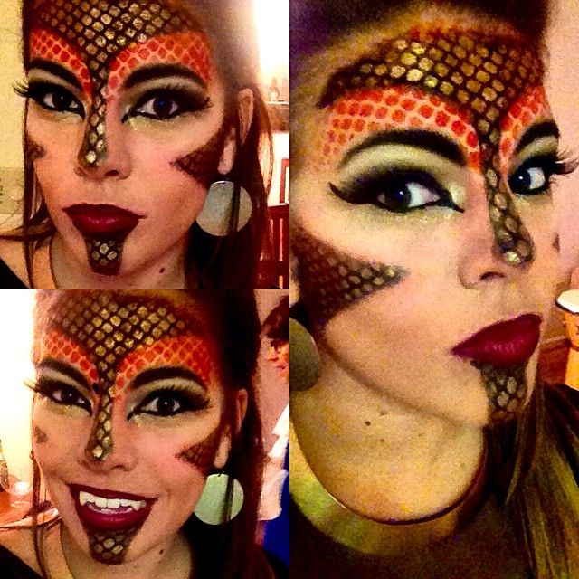 Human Dragon Halloween Makeup. Game Of Thrones -esque