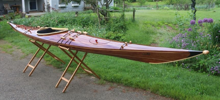 Ootek-X - West Greenland style wood strip sea kayak, designed by Rob Macks kayak plans, most ...
