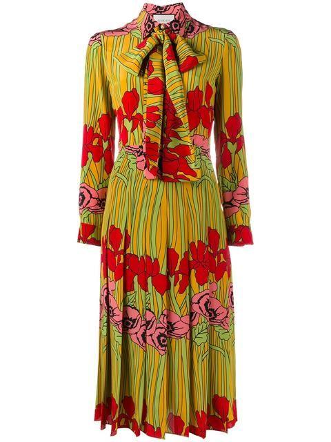 d11f49f4927 Shop Gucci floral print dress