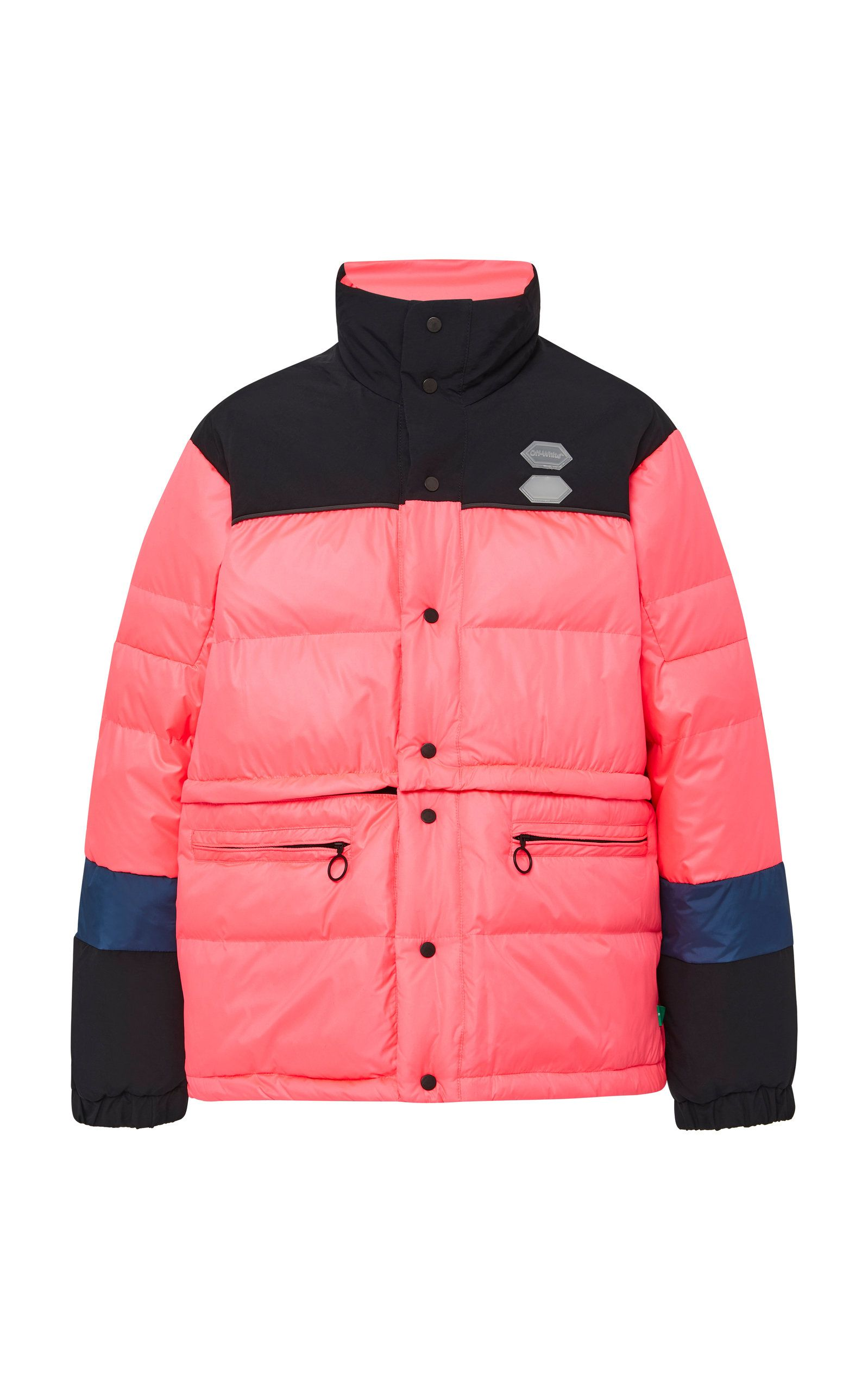 Off White Convertible Colorblocked Shell Puffer Coat Off White Cloth Puffer Coat Off White Off White Mens [ 2560 x 1598 Pixel ]