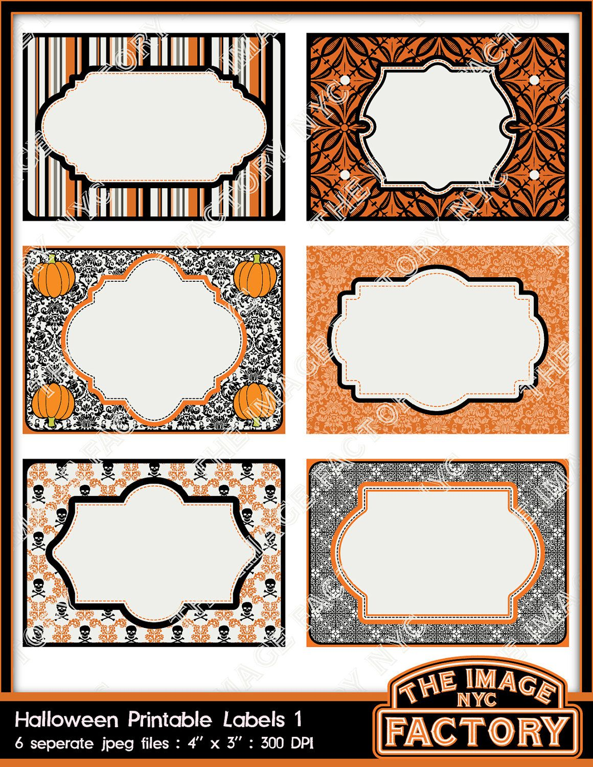 halloween printable labels  u0026 tags  for gift tags  place