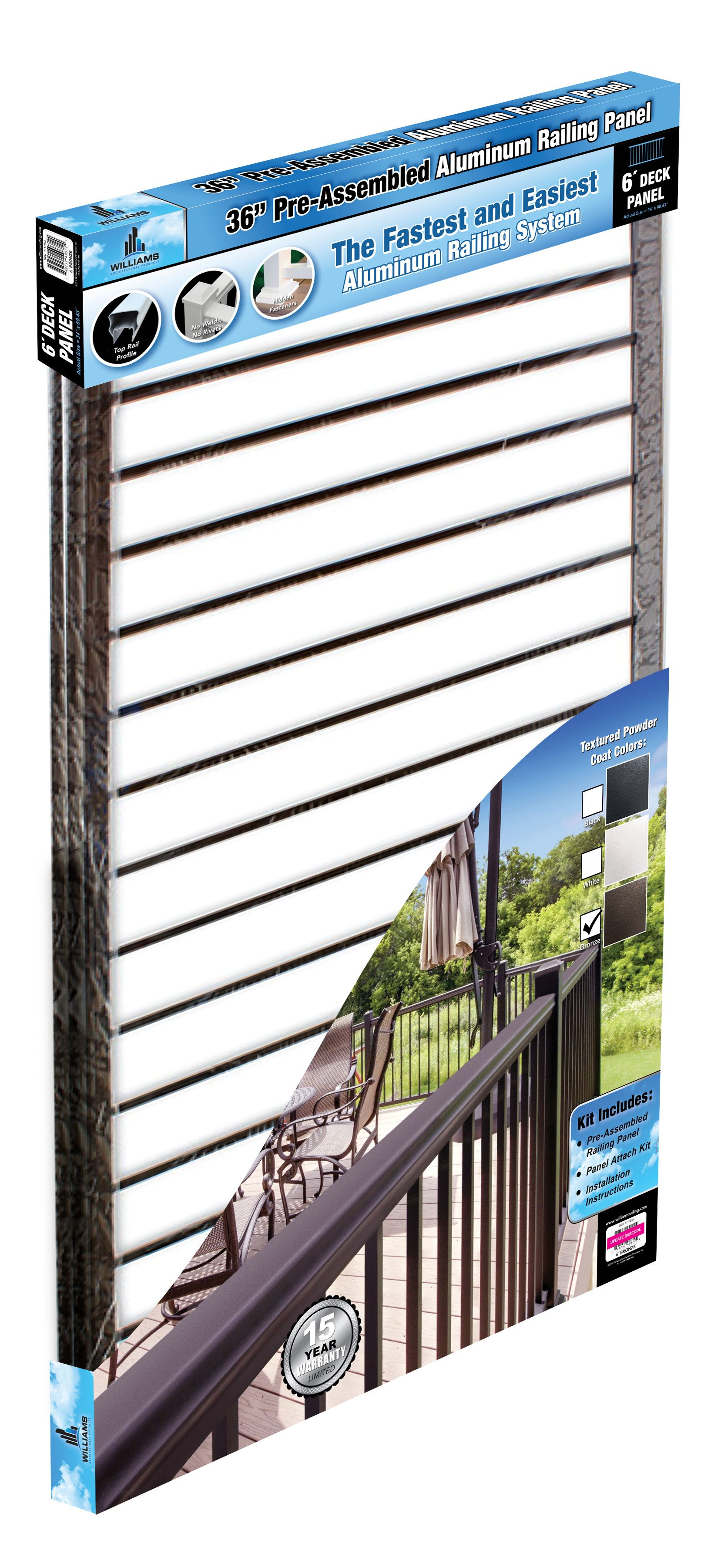 Best Now Stocking Bronze Aluminum Railing In Menards Black And 400 x 300