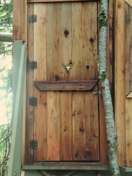 Treehouse door - Art of Doing Stuff Reader profile & Living off the Grid. A profile. | Pinterest | Treehouse Profile and ...