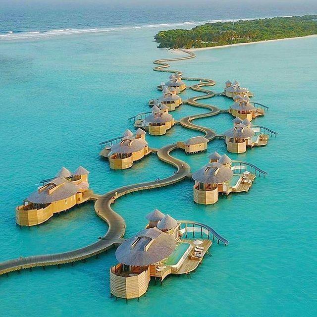 7 Luxurious Honeymoon Destinations Hotels: Soneva Jani Resort, Noonu Atoll, Maldives. #regram @we