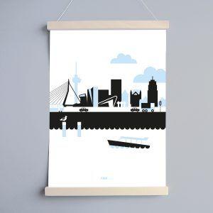 Poster Rotterdams Vervoer Woonkamer - Vervoer, Posters en Met