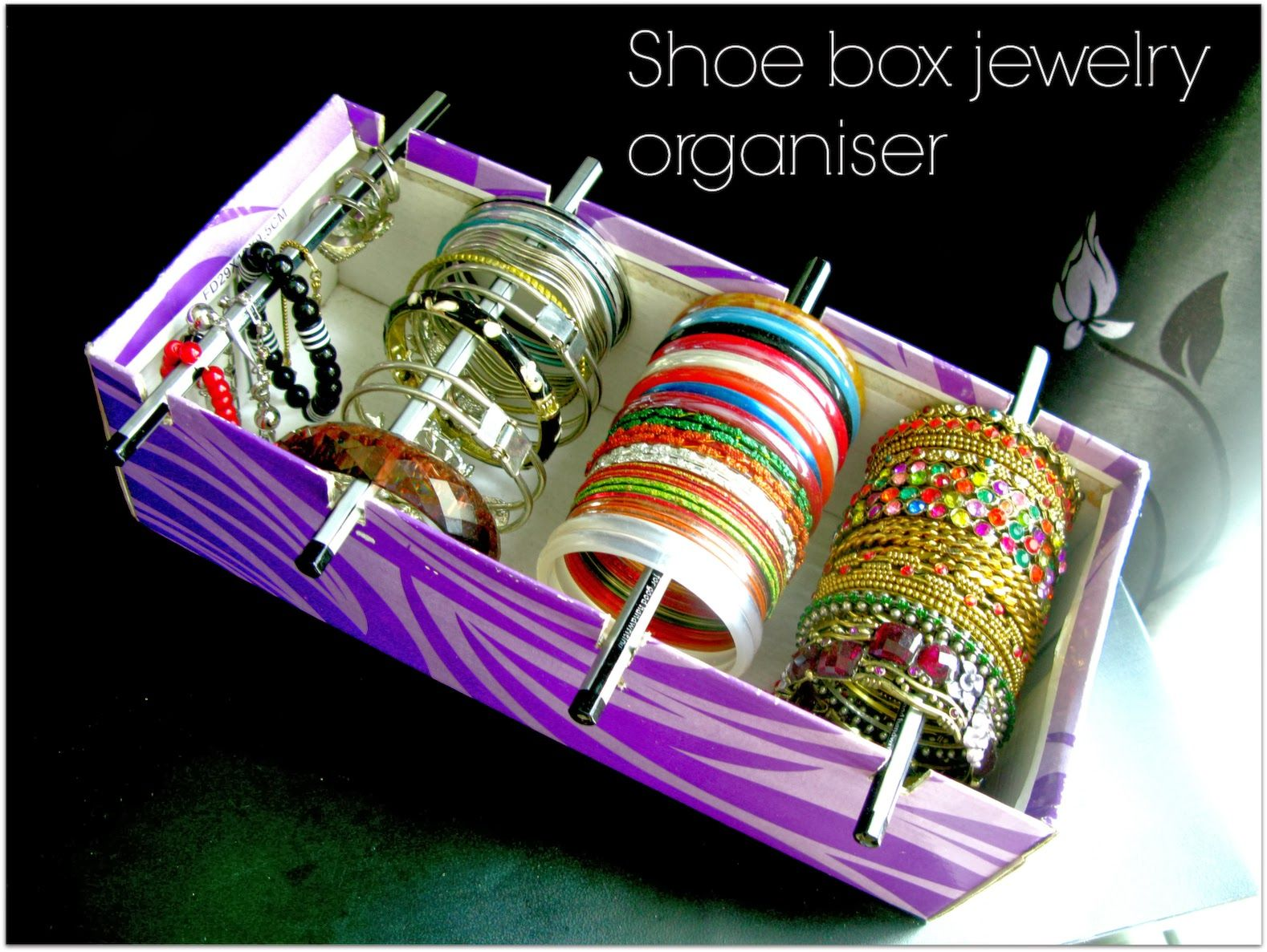 quickly convert an empty shoe box into a handy bracelet