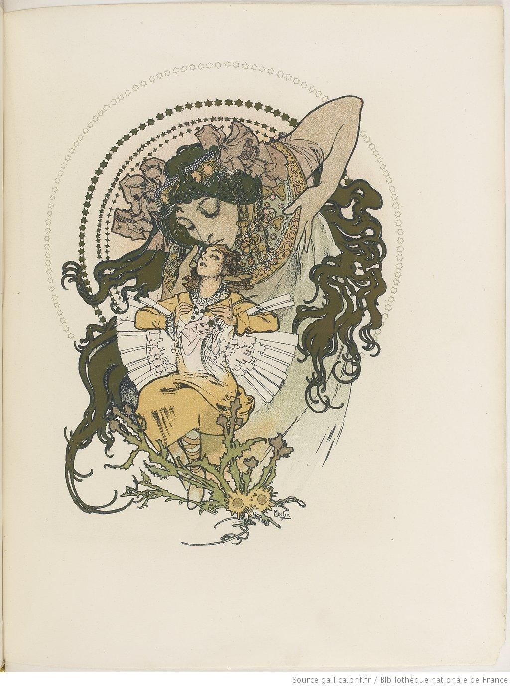 "Art: Alfons MUCHA ~Lithografie ""Ilsée, Princesse de Tripoli"" (Robert de Flers)~"