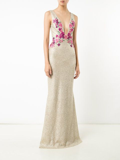 Marchesa Notte Floral Embroidered Gown | Gowns, Marchesa and Shopping
