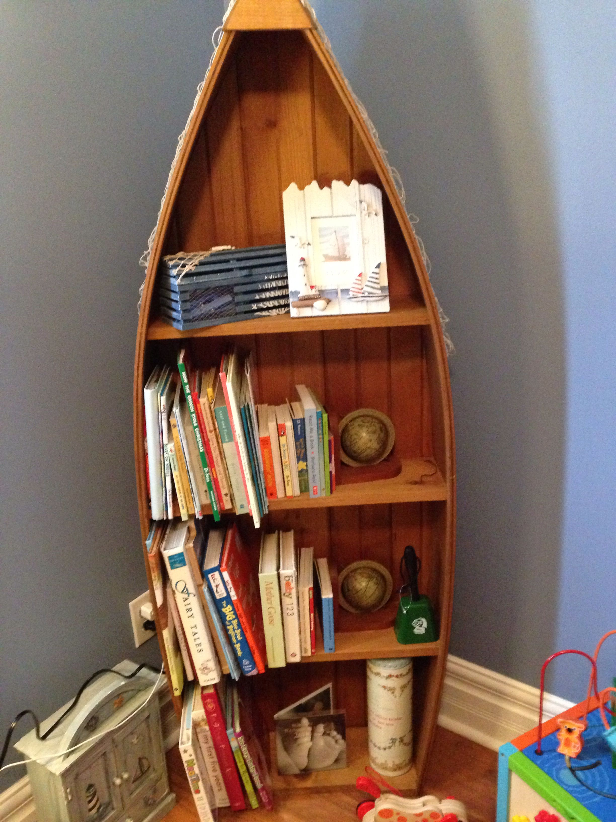 baby boy room themes ideas with bookcase | Boat Shelf for Nautical Nursery | Decorating | Baby boy ...