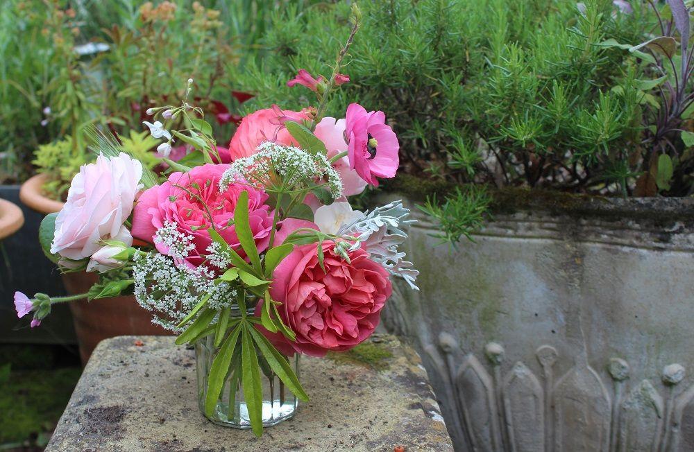 Lock Cottage Flowers flower power Jam jar flowers