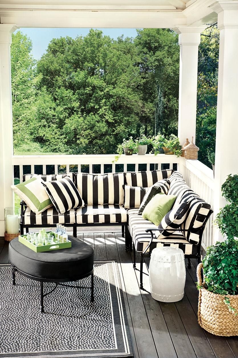 An outdoor sectional creates maximum seating (With images ... on Living Spaces Outdoor Sectional id=90307