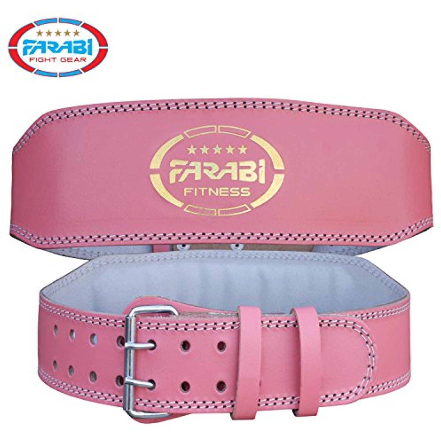 CLEARANCE Pro Weight Lifting Leather Fitness Belt Back Lumbar Support Strap Gym