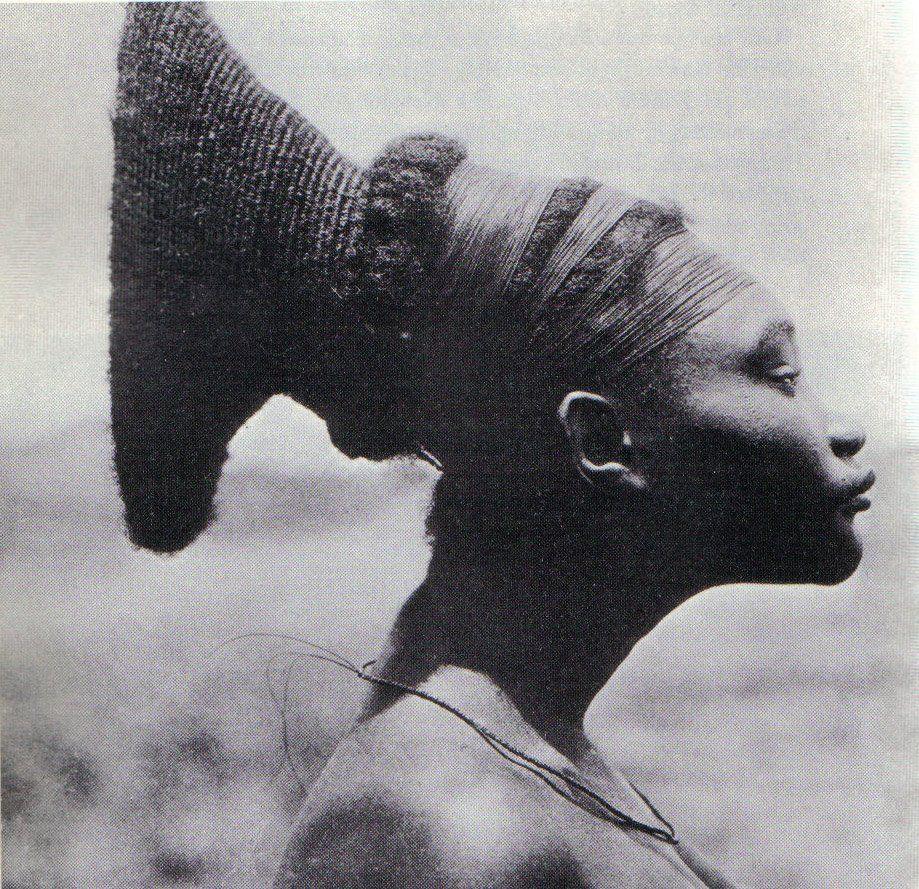 1930 Mangbetu Woman, Congo - 'Lipombo', the custom of ...