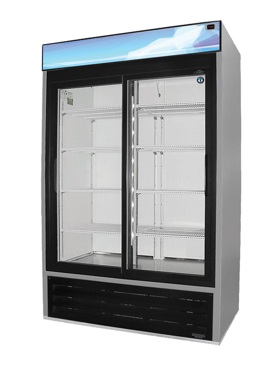 Rm 45 Sd Refrigerator Two Section Glass Door Merchandiser