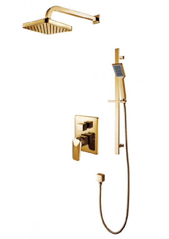 PVD Gold upscale hotel concealed shower set supplier China--Armati ...