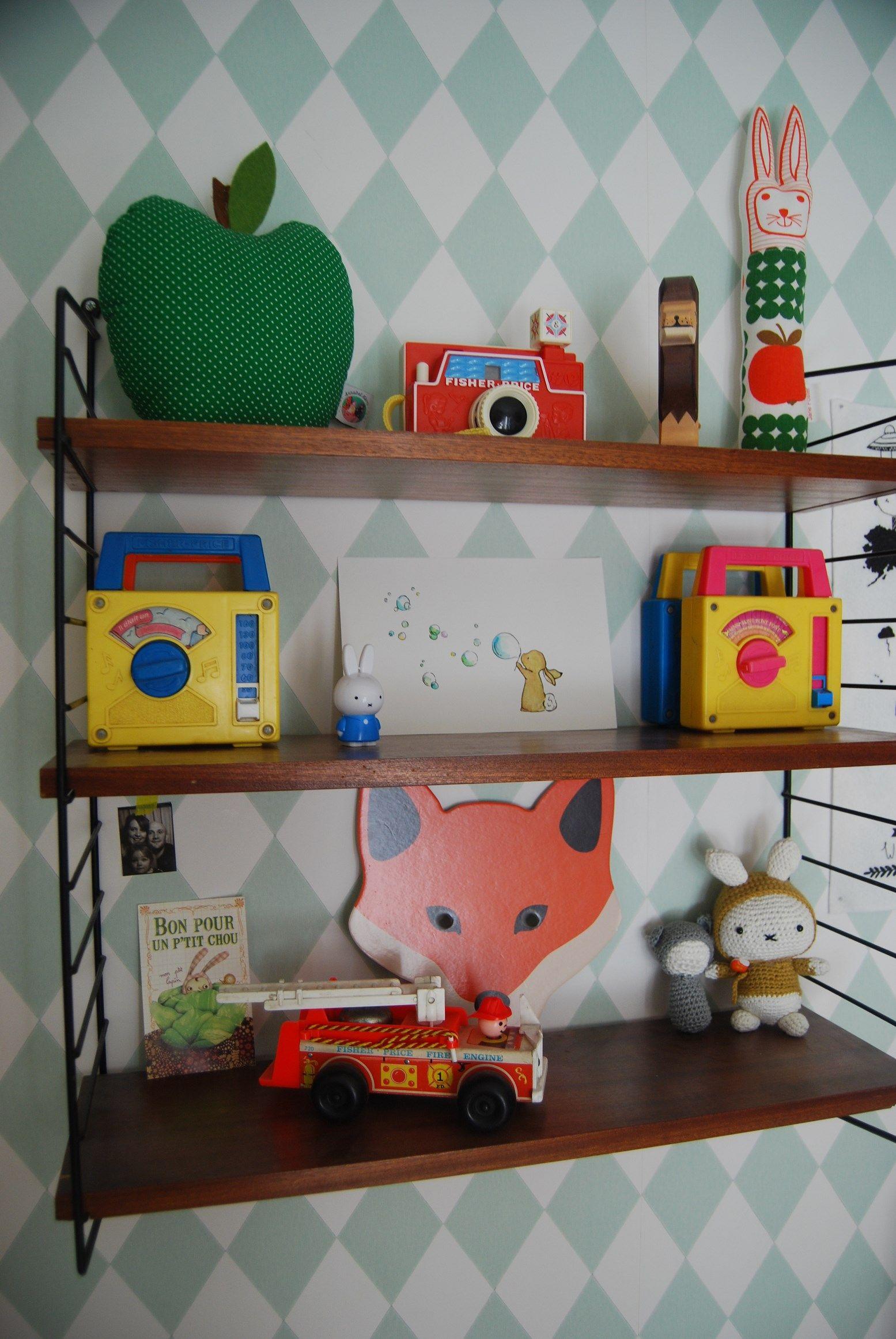 Wallpaper ferm living Retro kids room, Kids rooms inspo
