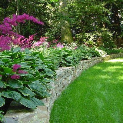 Hostas Magenta Astilbe Garden Outdoor Hosta Gardens Design Ideas Pictures Remodel And Decor