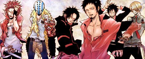 Ace Luffy Kid Law Sanji Killer