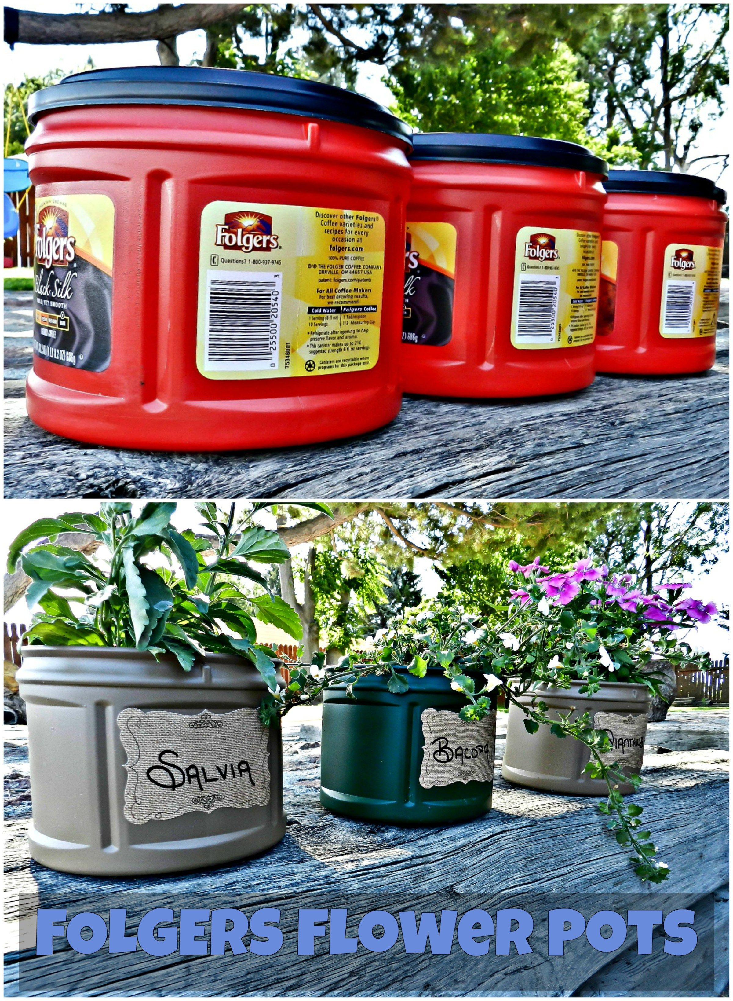 How To Turn An Old Coffee Can Into A Flower Pot With Images