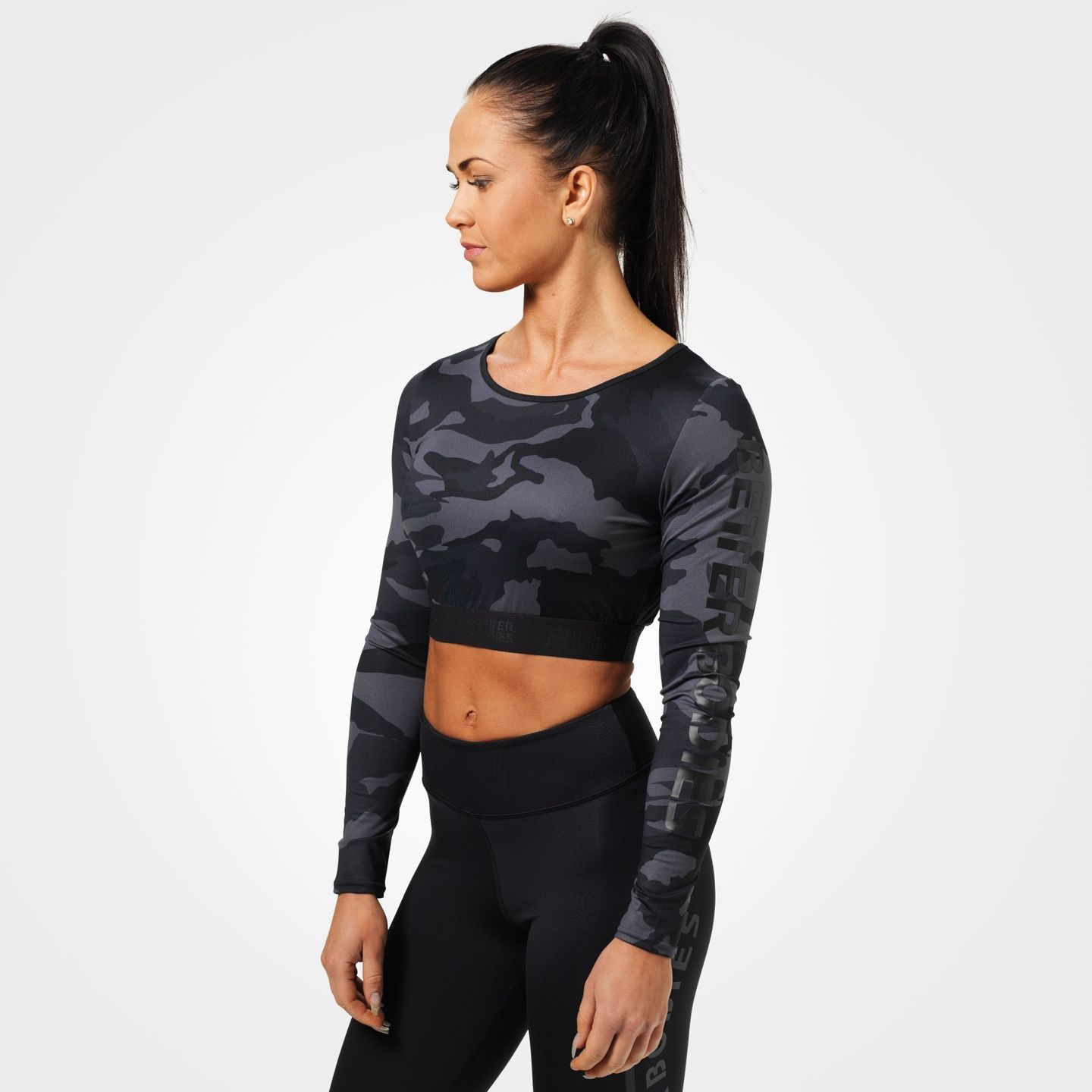Better Bodies Chelsea T-Back Dark Camo