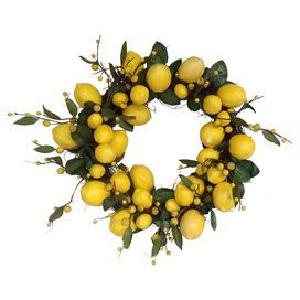 Faux Lemon Wreath