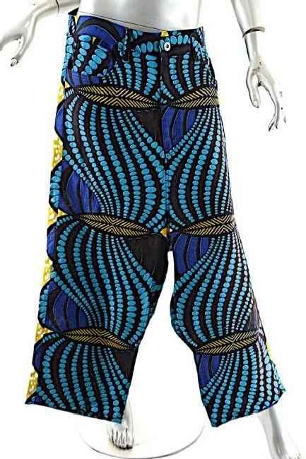 JUNYA WATANABE COMME DES GARÇONS 100/% Linen Graphic Pant $515 NWT