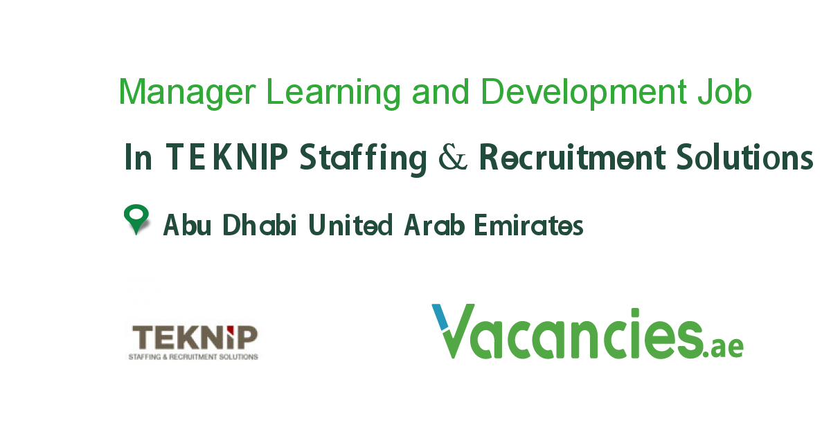 Manager Learning And Development Emirati Executive Jobs