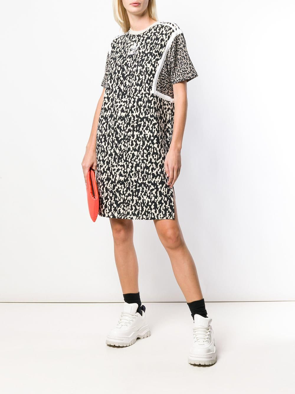️Adidas Women Originals LEOFLAGE TEE Dress DX4297  short  2018  multicolor   white  addidas  dressboutiques  clothesdress  sport   ... 68c30e11b