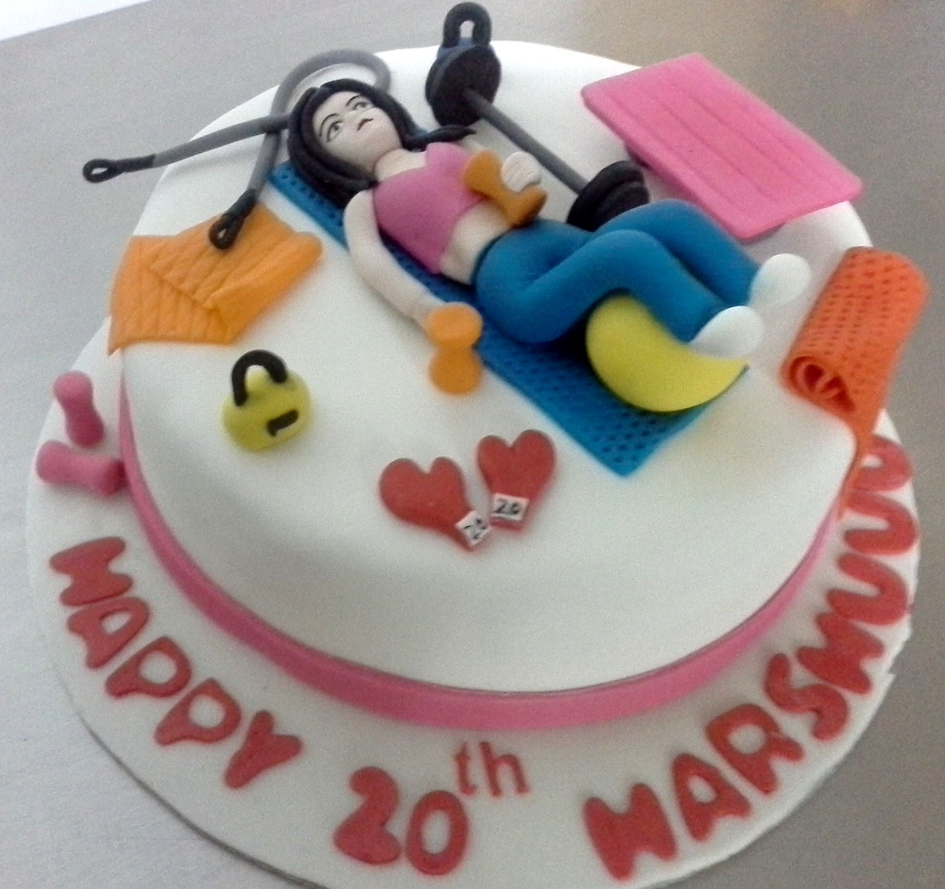 Pin by Miras Dial A Cake on Gym & Fitness theme cakes ...