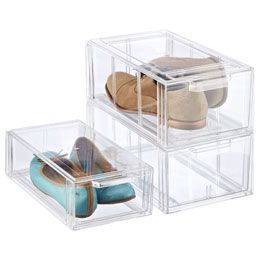 Clear Stackable Small Shoe Drawer Shoe Drawer Makeup Storage