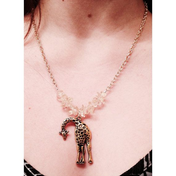 Gold Giraffe Necklace  by HeartfeltHemp on Etsy, $10.00