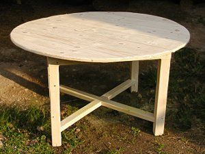 Une Table Ronde En Planches De Coffrage Table Ronde Bois