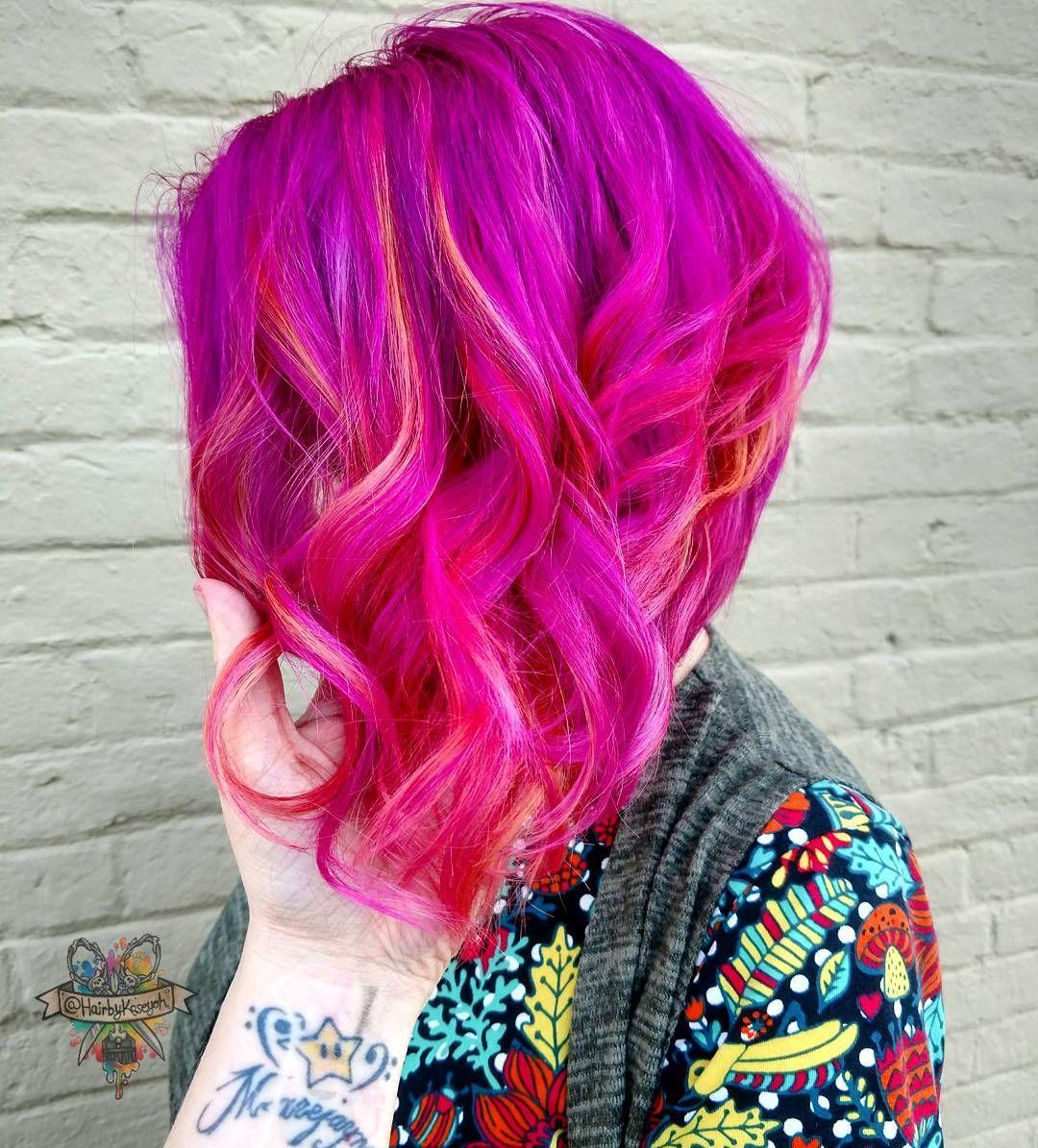 pinke haare haarfarbe inspiration haare pink f rben hairbykaseyoh haarfarben parfum. Black Bedroom Furniture Sets. Home Design Ideas