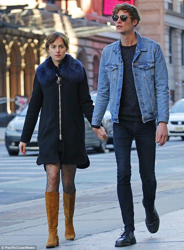 Dakota Johnson Holding Hands With On Again Boyfriend Matt