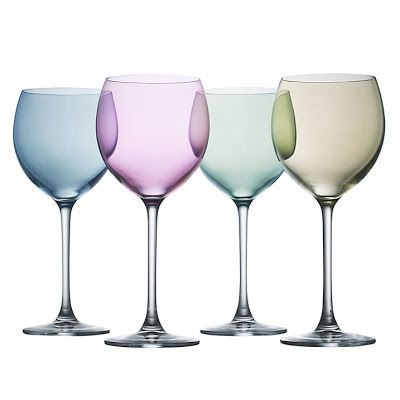 Dyeing For It: Adorable Colourful Glasses | Wine glasses