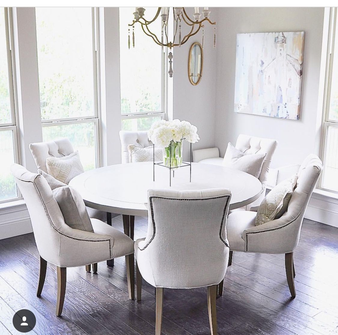 White Dining Room Table And Chairs (With Images)