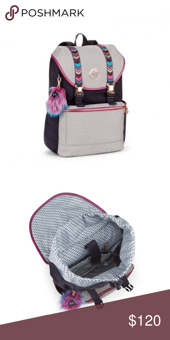 be4c78456af Kipling experience medium backpack Kipling experience medium backpack in grey  embellished, limited edition from the