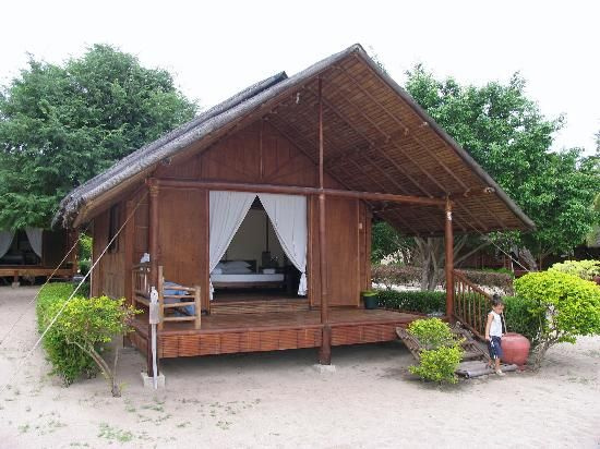 Bamboo cottage architecture pinterest bungalow for Small hut plans