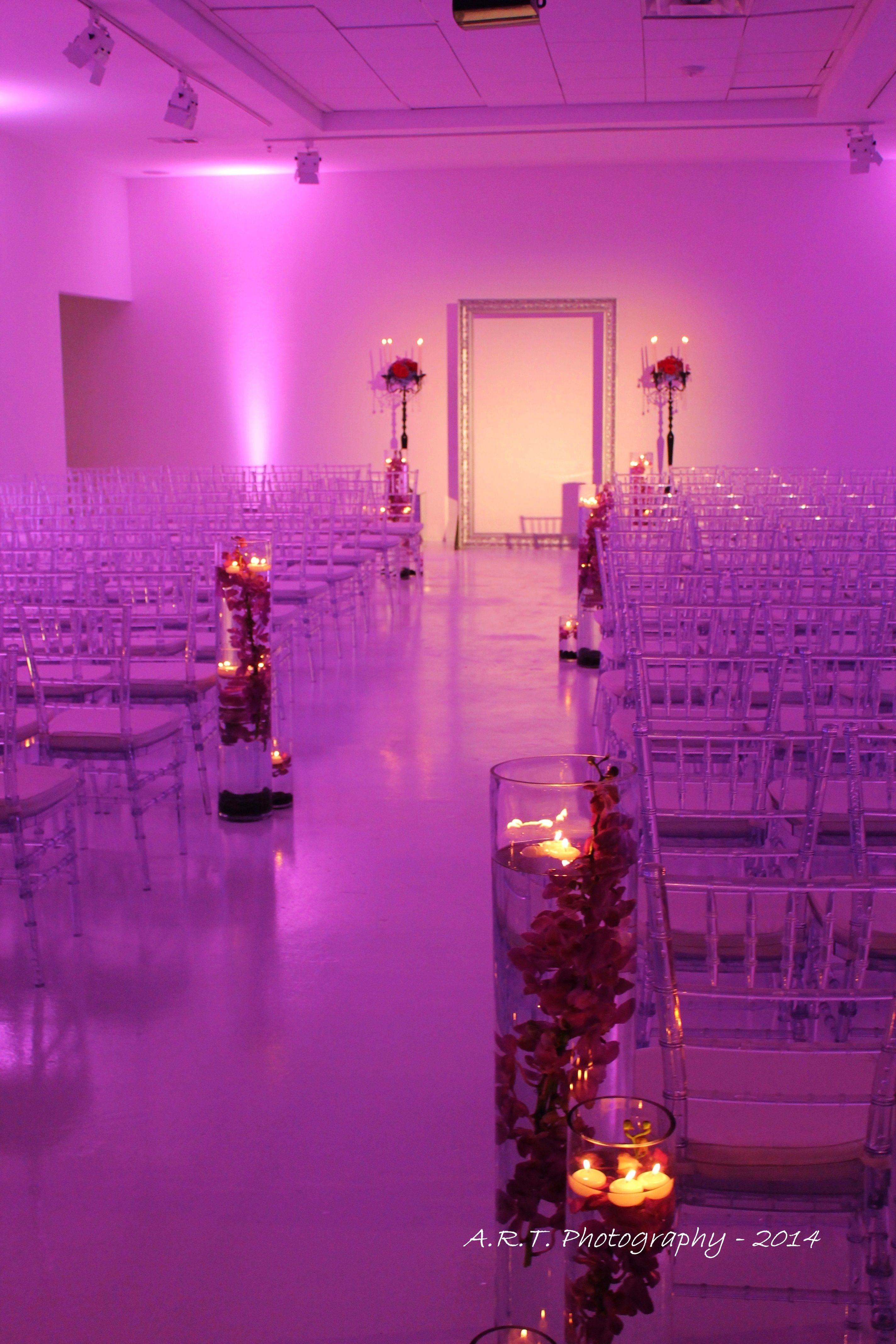 Pink Ceremony set up at 129 Leslie in Dallas TX | Wendy Krispin ...