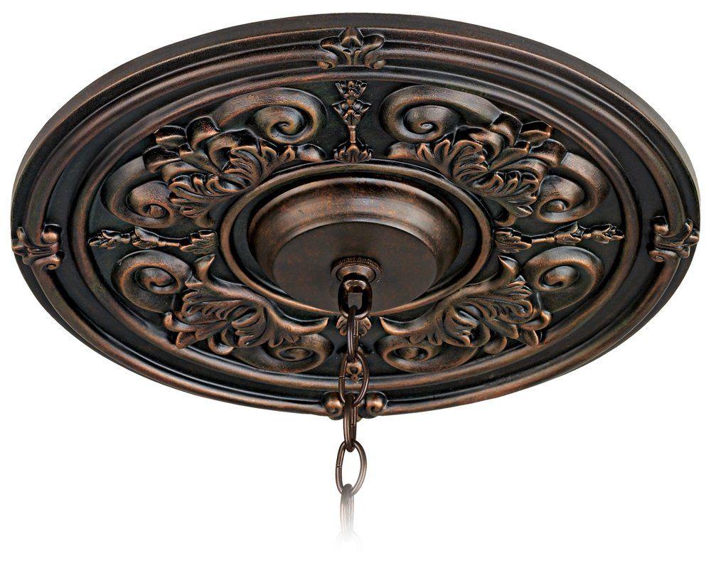 """Fleur-de-lis 16"""" Wide Ceiling Medallion - Decorative Ceiling Medallions - Amazon.com"""