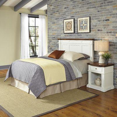 Americana Panel 2 Piece Bedroom Set Size: Queen/Full, Finish: White - http://delanico.com/bedroom-sets/americana-panel-2-piece-bedroom-set-size-queenfull-finish-white-589870579/