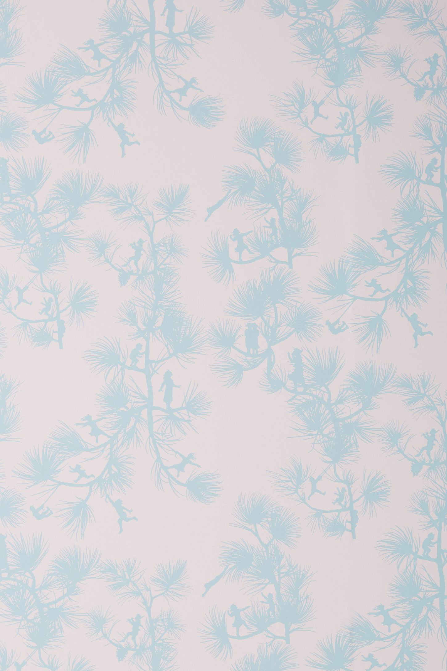 Fairy Forest Wallpaper by Mitchell Black in Pink, Wall
