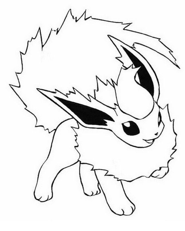 Flareon Pokemon Coloring Pages Printable Pokemon Coloring Pages Pikachu Coloring Page Pokemon Coloring