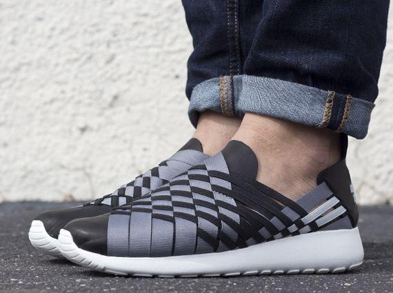 a845cb1676aa Nike Roshe Run Woven 2.0 - Black - Grey - SneakerNews.com